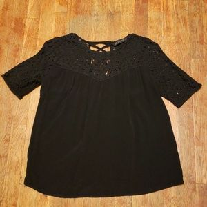 Women's black top by Zara